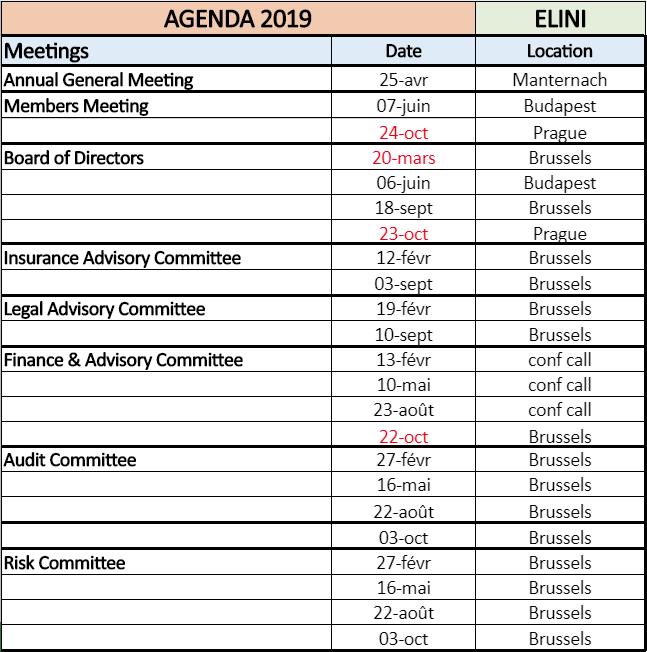 ELINI Agenda